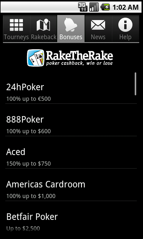 RakeTheRake rakeback deals