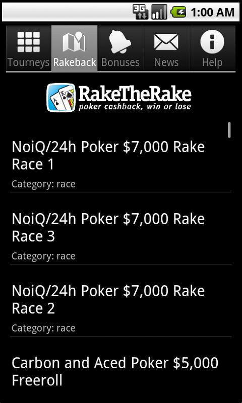 RakeTheRake freerolls and races