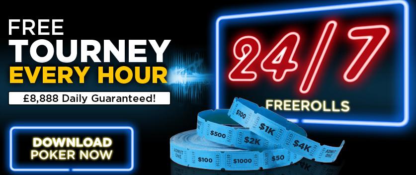 888 poker 24/7 freerolls