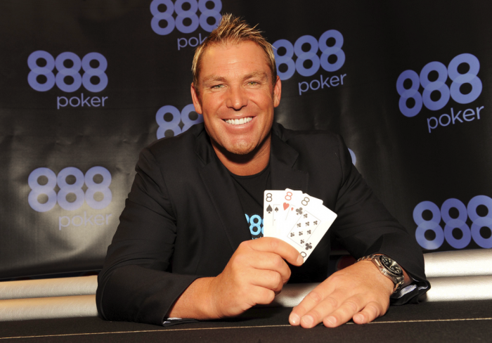 888poker rakeback Shane Warne Rake The Rake