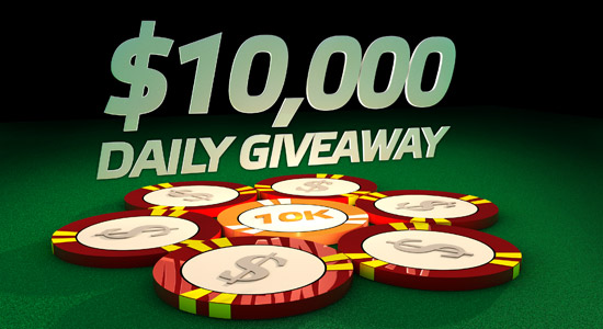 Party Poker 10k daily giveaway Rake The Rake