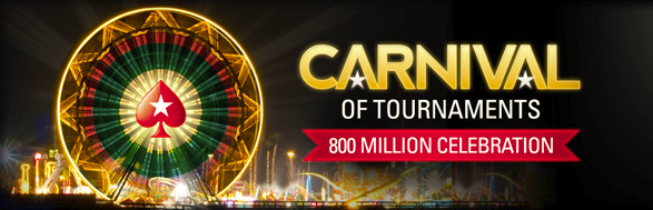 PokerStars  carnival of tournaments RakeTheRake