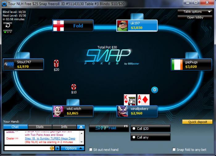 888 poker snap poker Rake The Rake