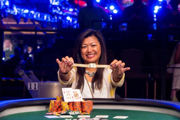 Haixia Zhang WSOP 2014 Rake The Rake