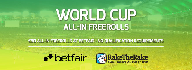 Betfair world cup freerolls blog banner