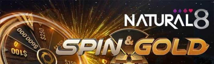 Natural8 spin and gold header