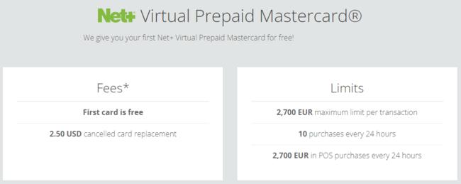 Net+ Virtual Prepaid Mastercard