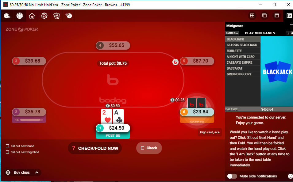 Bodog Screenshots