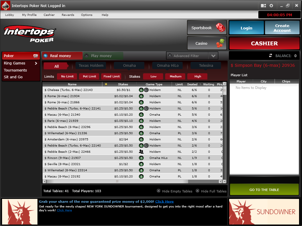 Intertops Screenshots