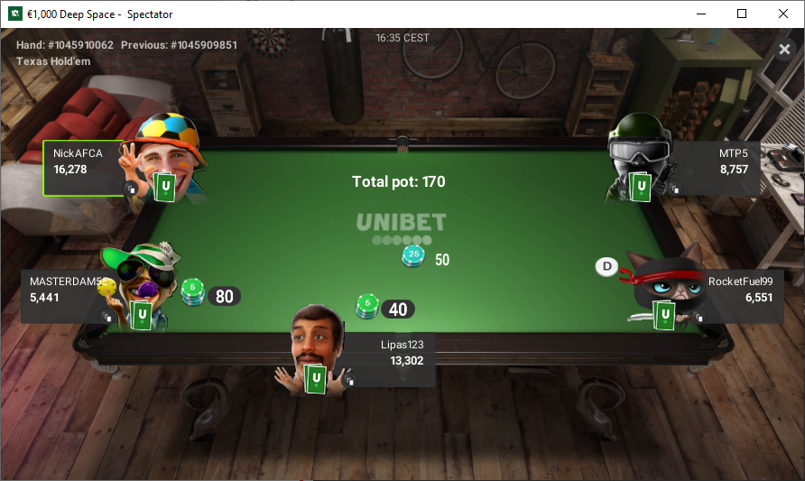 Unibet Screenshots